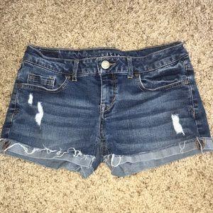 Aeropostale distressed jean shorts